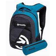Mestský batoh Meatfly EXILE Backpack, Petrol Heather/Charcoal Heather
