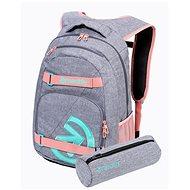Mestský batoh Meatfly EXILE Backpack, Pink/Grey Heather
