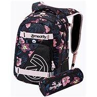 Mestský batoh Meatfly EXILE Backpack, Hibiscus Black