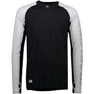 Mons Royale Temple Tech LS Black/Grey Marl - Termo tričko