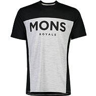 Mons Royale Redwood Enduro VT Black / Grey Marl - Tričko