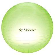 LifeFit Transparent 75 cm, sv. zelená - Gymnastická lopta