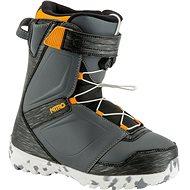 Nitro Droid QLS Charcoal - Black - Orange vel. 35 1/3 EU/ 225 mm - Topánky na snowboard