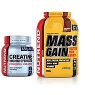 Nutrend Mass Gain, 2250 g, čokoláda+kakao + Nutrend Creatine Monohydrate, 300 g - Proteínová sada