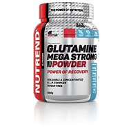 Nutrend Glutamine Mega Strong Powder, 500 g, punč + brusnica - Aminokyseliny