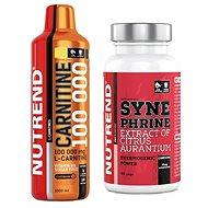 Nutrend Carnitine 100 000, 1 000 ml, citrón + Nutrend Synephrine, 60 kapsul - Spaľovač tukov