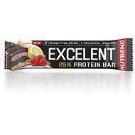 Nutrend EXCELENT Bar double, 85 g, citrón, tvaroh a malina s brusnicami CZ/SK - Proteínová tyčinka