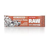 Nutrend RAW Protein Bar, 50 g, lieskový orech + datle - Raw tyčinka