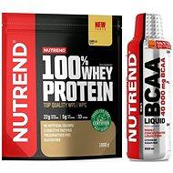 Nutrend 100% Whey Protein 1000 g, vanilka + BCAA Liquid, 500 ml