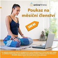 Online Fitness voucher Čtvrtletní - voucher