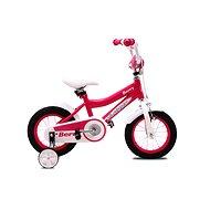 "OLPRAN Berry, ružová/biela, 12"" - Detský bicykel 12"""