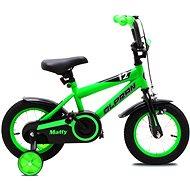 """OLPRAN Matty 12"""", zelená/čierna - Detský bicykel"""