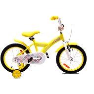 "OLPRAN Debbie, žltá/biela, 16"" - Detský bicykel 16"""