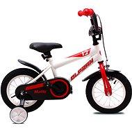 """OLPRAN Matty 12"""", biela/červená - Detský bicykel 12"""""""