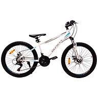 """OLPRAN XC 24"""" biela/modrá - Detský bicykel"""