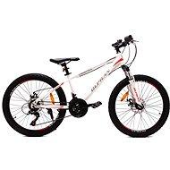 "OLPRAN XC 24"" biela/červená - Detský bicykel"