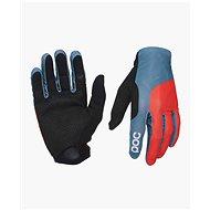POC Essential Print Glove Cuban Blue/Prismane Red - Cyklistické rukavice