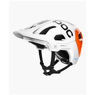 POC Tectal Race SPIN NFC Hydrogen White/Fluorescent Orange - Prilba na bicykel