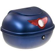 Zadný kufor k elektrickému motocyklu RACCEWAY SMART, modrý – lesklý - Kufor