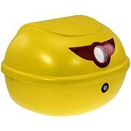 Zadný kufor k elektrickému motocyklu RACCEWAY SMART, žltý-lesklý - Kufor