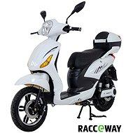 Racceray E-Moped, 20 Ah, biely-lesklý - Elektrický skúter