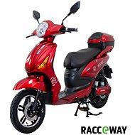 Racceway E-Moped 12AH červený-lesklý - Elektrický skúter