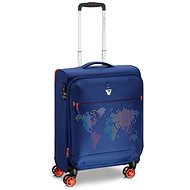 Roncato Lite Print, 55 cm, 4 kolieska, EXP modrý - Cestovný kufor