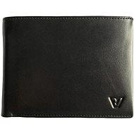 Roncato AVANA RFID, horizontálna s vreckom na mince, čierna - Peňaženka