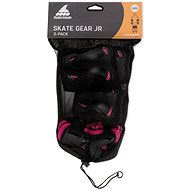 Rollerblade SKATE GEAR JUNIOR 3 PACK black/pink - Chrániče