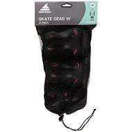 Rollerblade SKATE GEAR W 3 PACK black/raspberry - Chrániče