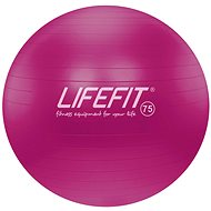 Lifefit anti-burst 75 cm, bordová - Gymnastická lopta