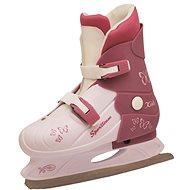 SPORTEAM KIDS bielo-fialkové - Dámske korčule na ľad