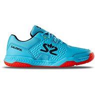 Salming Hawk Court Shoe JR Blue/Red veľ. 35 EU/230 mm - Halovky
