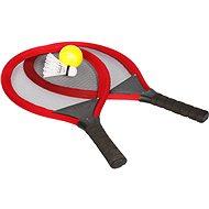 Súprava tenisovej rakety a badmintonu, červená - Bedmintonový set