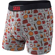 Saxx Ultra Boxer Brief Fly grey htr lumberjack - Boxerky