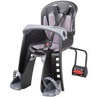 POLISPORT Bilby Junior čierno-tmavo šedá - Detská sedačka na bicykel