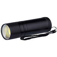 Emos kovové, 3 W COB LED, na 3× AAA čierne - Baterka