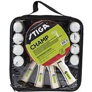Stiga Set Champ 4-play – 4 rakety a 8 loptičiek - Súprava na stolný tenis