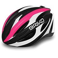 Brik Shire pink-white-black M - Prilba na bicykel