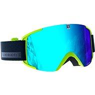 Salomon Xview Acid Lime/Solar Blue - Lyžiarske okuliare