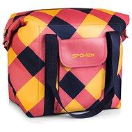 Spokey SAN REMO - Termo taška, ružovo-modro-žltá, 52 × 20 × 40 cm - Termotaška