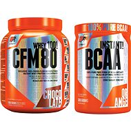 Extrifit CFM Instant Whey 80, 1000g , chocolate + Extrifit BCAA Instant 300 g orange - Proteínová sada