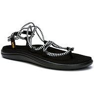 TEVA Voya Infinity Stripe BLACK/BRIGHTWHITE - Sandále
