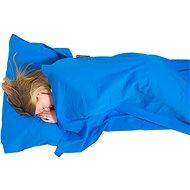 Lifeventure Cotton Sleeping Bag Liner blue mummy - Vložka do spacáku