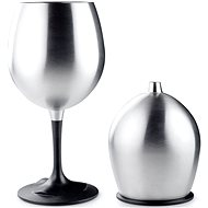 GSI Outdoors Glacier Stainless Nesting Red  Wine Glass - Kempingový riad