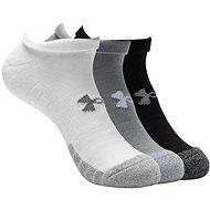 Under Armour Heatgear NS 3 pack white grey black - Ponožky