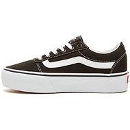 Vans WM Ward Platform (Canvas) Black/White - Vychádzková obuv