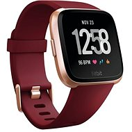 Fitbit Versa – Ruby Band/Rose Gold Aluminum Caset - Smart hodinky