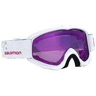 Salomon JUKE White/Univ. Ruby - Lyžiarske okuliare