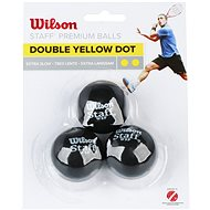 Wilson Staff Squash 3 Ball Double Yellow Dot - Squashová lopta